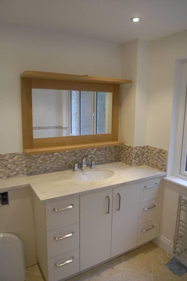 salle de bain meuble blanc